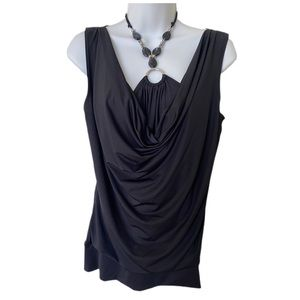 George black camisole integrated stone necklace